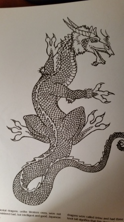 dragon drawing Japanese