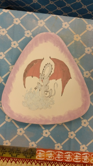 Dragon on triangle plate CC