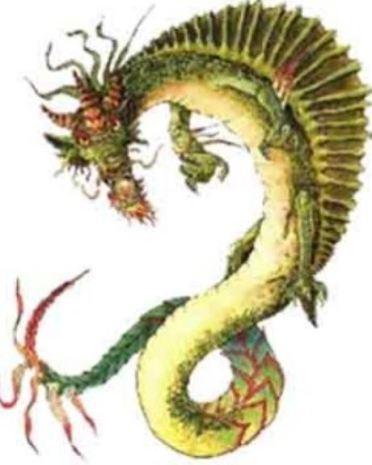 dragon Polynesian Underwater dragon called a Moo