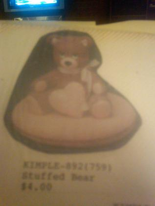 Kimple 0892 Stuffed Bear with Heart