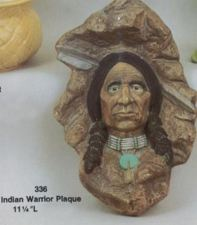 SITTRE 336 Indian warrior plaque