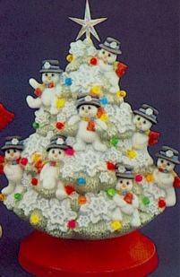 snowman tree from clay magic catalog