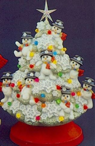 snowman tree from clay magic catalog
