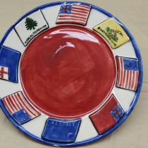 US Historic Flags plate