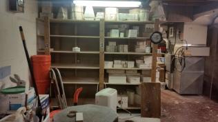 molds Christmas shelf 7-1-16