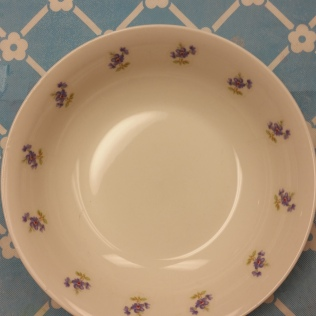 bowl with flower border decals