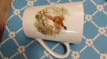 cup with pheasant decal