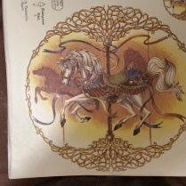 decal plate carousel horse