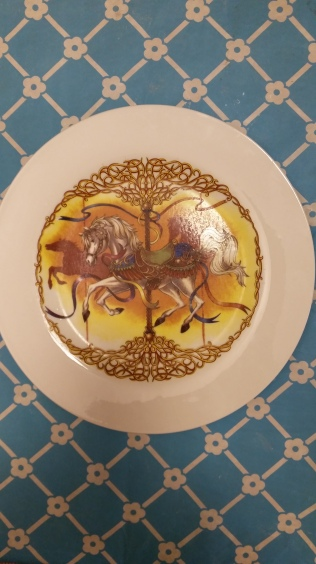 dinner plate with carousel decal