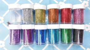 glitter in shaker jars