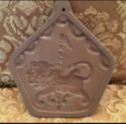 Hartstone Pottery Carousel Lion cookie mold