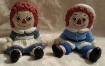 Raggedy Ann & Andy in Santa Suits
