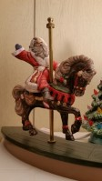Small Christmas Carousel Horse with Santa FH (CC)