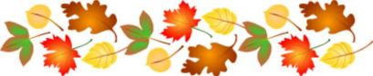 clipart fall leaves border