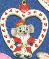 Alberta Ornaments 0293 King of Hearts Mouse