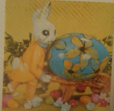 bunny cart with egg (wheelbarrow)