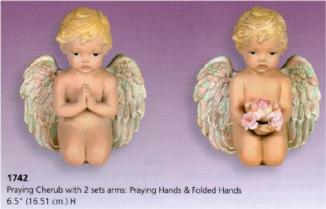 cherub ptaying with 2 sets hands S1742