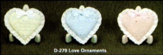 Christmas heart ornaments D0279