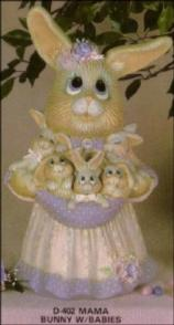 Dona 0402 mama bunny with babies