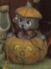 DONA 0455 MUSICAL CAT IN PUMPKIN