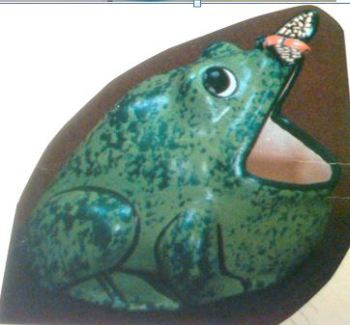 Duncan 0418 frog scrubby (ashtray)