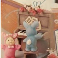 Gare 1395 Children in Rabbit Suits (with upright piano)