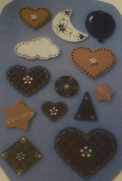 hearts & stars appliques