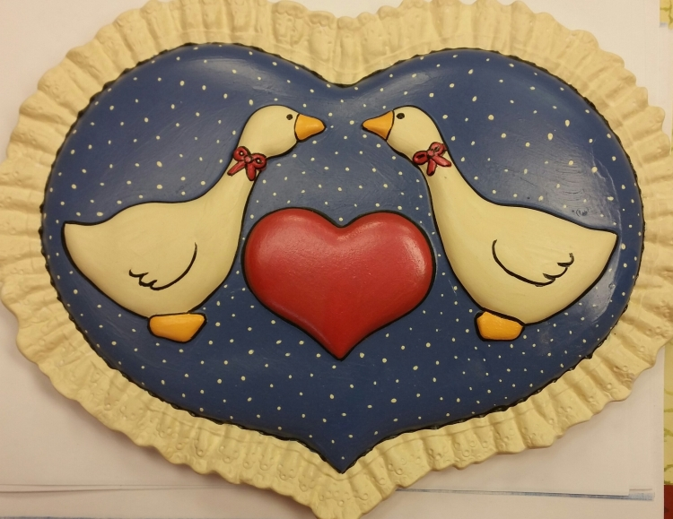 Holland 2356 Heart Plaque with Geese