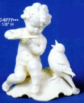 Large cherub with Birds HC-9777