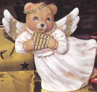 provincial studio 162 bear angel with pipe