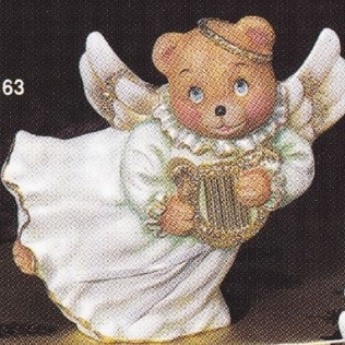 provincial studio 163 bear angel with harp
