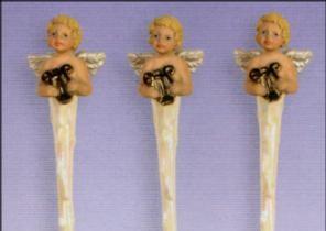 Scioto 2267 Cherub icicles with harp