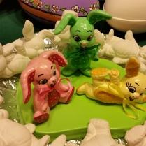 small soft bunny trio