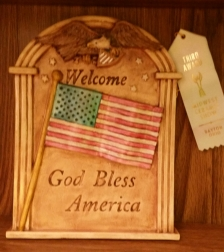 God Bless America plaque Deana MCS17