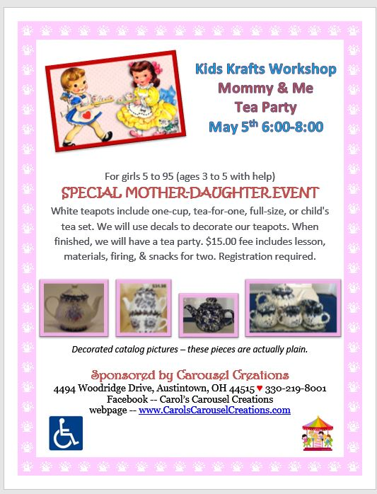 KK Mommy & Me Tea Party 5-5-2017
