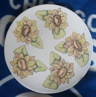 Sunflower plate Duncan WS MCS