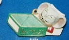 Alberta Ornaments 0124 mouse sleeping in matchbox