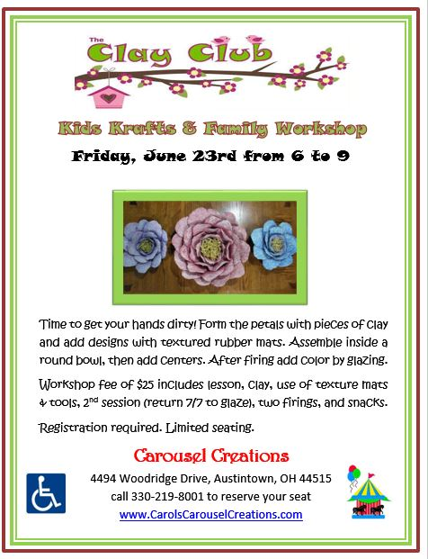 Clay Club 6-23-17 flower POSTER