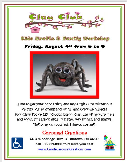 Clay Club spider 8-14-17 POSTER