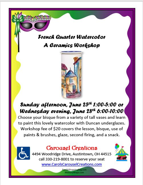 French Quarter WS POSTER 6-25 & 6-28-17