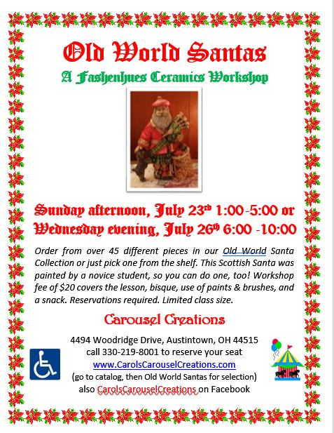Old World Santas WS POSTER 7-23 & 7-26-17