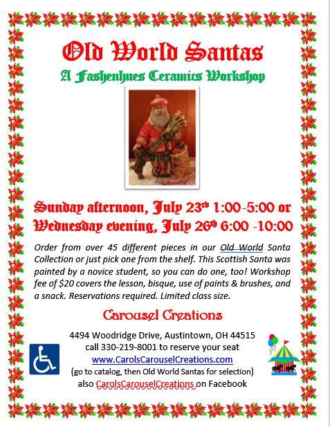 Old World Santas WS POSTER 7-23 & 7-26-17