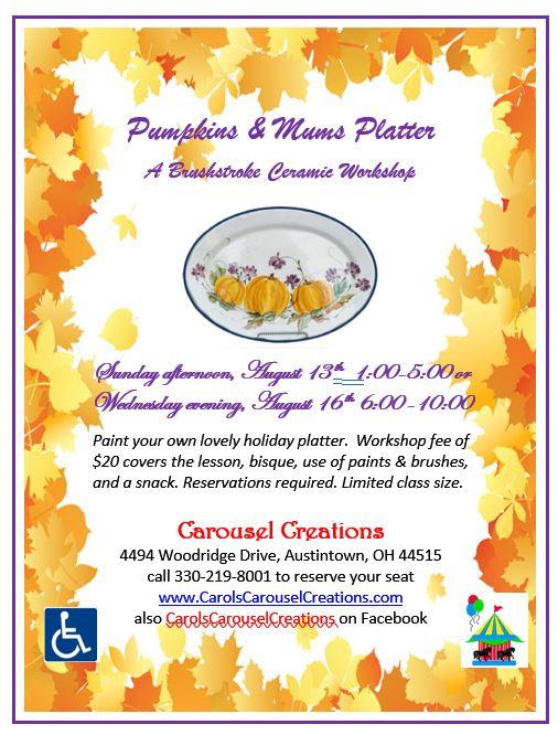 Pumpkins & Mums Platter WS POSTER 8-13 & 8-16-17