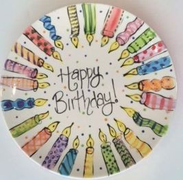 deco idea birthday plate
