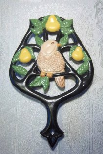 Duncan 0230 partridge in a pear tree trivet