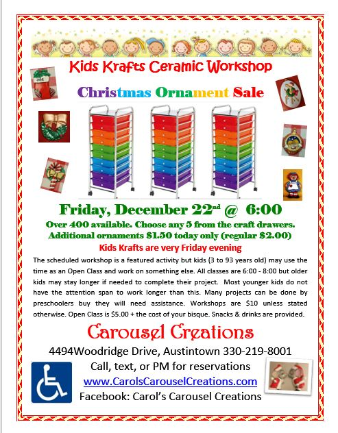 KK 12-22-2017 ORNAMENT SALE