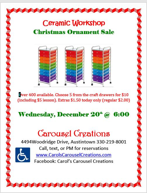 WS 12-20-2017 Ornament Sale