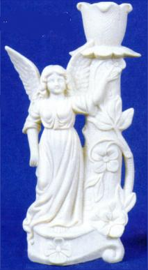 Alberta (Heinz) 4203L victorian angel candle holder left