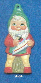 Alberta Ornaments 0064 boy gnome