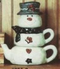 Ann Original 0820 Snowman Stack (teapot sugar creamer)